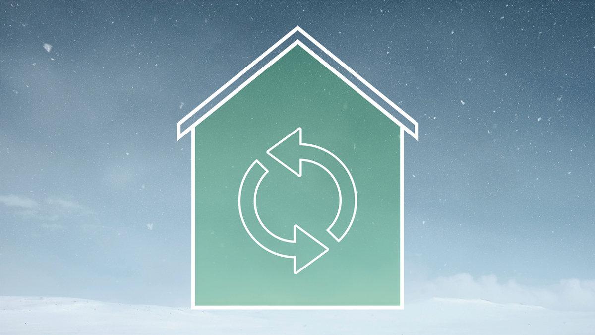 Ventilasjons- og avtrekks-varmepumpe