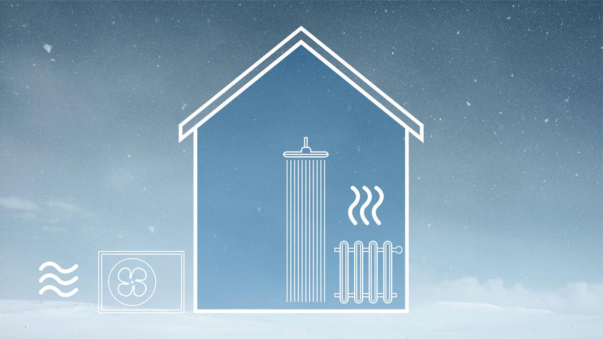 Luft-til-vann-varmepumpe
